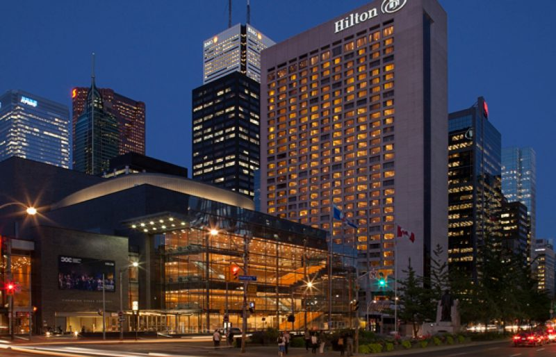 Photograph of the Hilton Downtown Hotel building